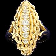 Vintage 1/2ct Diamond Ring 14k Gold