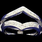 Diamond Ring Jacket 14k White Gold