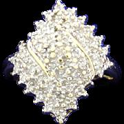 1/4 ct TW Diamond Cluster Ring 10k Yellow Gold