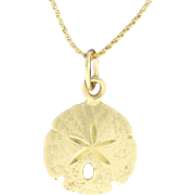 14K Sand Dollar Necklace