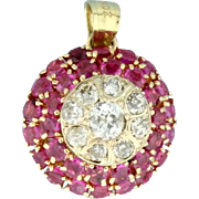 Antique Diamond and Ruby Pendant