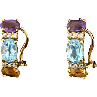 Diamond and Colored Stone Earrings