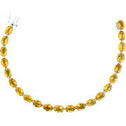 33ct Citrine Bracelet in 14k White Gold