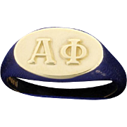 Alpha Phi Ring 10k Yellow Gold