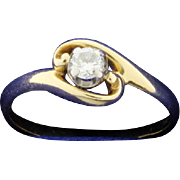 .15ct Solitaire Diamond Ring 14k Yellow Gold