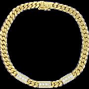 18K Gold 1/2ct TW Diamond Bracelet