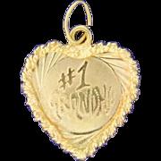 I Love Grandma Heart Pendant or Charm