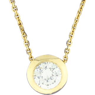 CZ Pendant on 18 Inch Chain