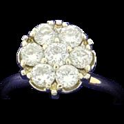 1 ct TW Antique Diamond Flower Ring
