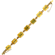 42ct TW Citrine Rose Gold Bracelet