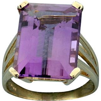 Large 14ct Amethyst Ring