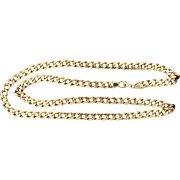 22 1/2 Inch Flat Link Chain in Rose Gold