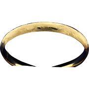 Etched 14k Hinged Bangle Bracelet