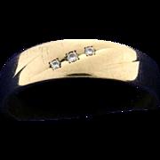 Men's Three Diamond Ring