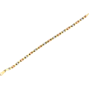 Rose, White, and Yellow Gold Bracelet