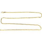 Unique 25 Inch Triangle Link Neck Chain