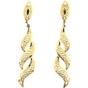 Flame Style Dangle Earrings