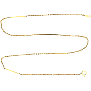 18 1/2 Inch Alternating Bar and Link Neck Chain