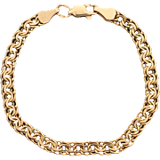 6 3/4 Inch Rose Gold Double Link Bracelet