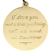 I Love You More Than Yesterday Pendant