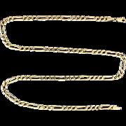 Italian Made 20 1/4 Inch Figaro Style Neck Chain