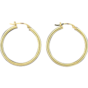 1 Inch Diameter Hoop Earrings