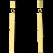 Thin Rectangular Dangle Earrings