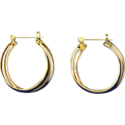 3 Ring Hoop Earrings