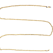 25 3/4 Inch Rope Link Neck Chain in 14k Gold