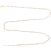 19 1/4 Inch Box Link Neck Chain  in 14k Gold