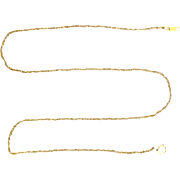 16 1/4 Inch Rope Link Neck Chain  in 14k Gold