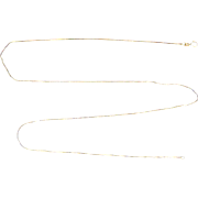 25 1/4 Inch Box Link Neck Chain in 14k Gold