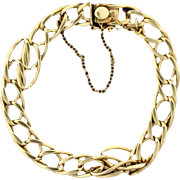 7 Inch Twisting Oval Link Bracelet in 14k Gold