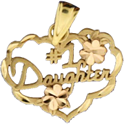 14k Gold #1 Daughter Pendant