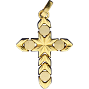 14k Gold Unique Flexible Cross Pendant