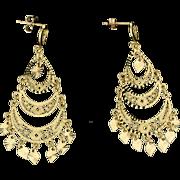 Chandelier Dangle Earrings in 14k Gold