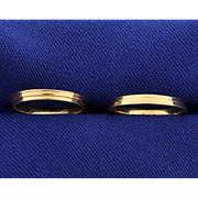 Two Stacking Band Rings in 14k Gold