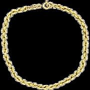 7 1/4 Inch Long Rope Style Bracelet