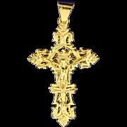18k Gold Crucifix Pendant