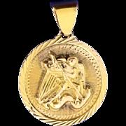 Saint Michael Killing Devil Pendant in 18k Gold