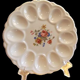 Vintage Deviled Egg Serving Plate, E & R American Art Ware Platter