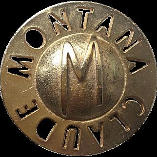 Vintage Claude Montana Brooch