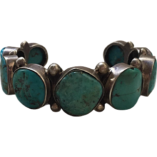 Turquoise & Sterling Silver Cuff