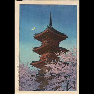 Kawase Hasui  - Ueno Toshogu - Japanese Woodblock Print - 1st Ed.