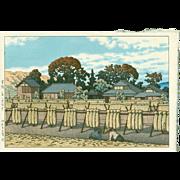 Kawase Hasui  - Kanago Village - 1954 - First Edition Japanese Woodblock Print