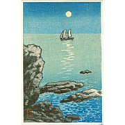 Kawase Hasui - Seascape - Japanese Woodblock Print