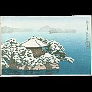 Kawase Hasui - Godaido Shrine, Matsushima- Japanese Woodblock Print