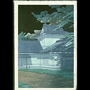 Kawase Hasui - Japanese Woodblock Print - Aoba Castle in Sendai