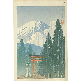 Kawase Hasui - Mt. Fuji in Rain - Japanese Woodblock Print