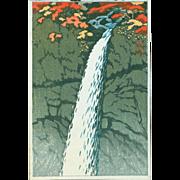 Kawase Hasui - Kegon Falls - Japanese Woodblock Print
